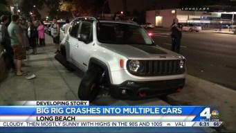 Big Rig Driver Falls Asleep, Plows Into Cars