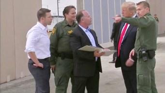 Trump Tours Wall Prototypes in Otay Mesa