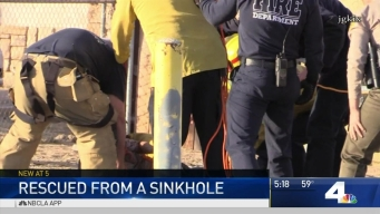 Boy Rescued from Sinkhole