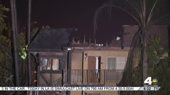 Brush Fire Spreads Damages Motel in San Bernardino