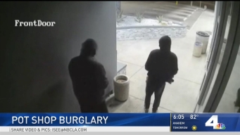 Burglars Caught on Camera Breaking Into Pot Shop