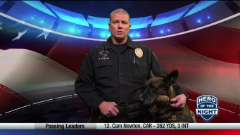 The Challenge Hero of the Night: Officer Eric Hibbard and K9 Billy