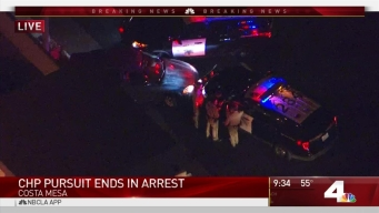 CHP Pursuit Ends in Arrest