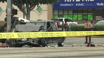 Woman at Bus Stop Among 3 Injured When Pursuit Driver Crashes Pickup