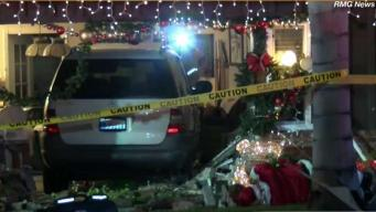 Car Crashes Into Home in San Gabriel
