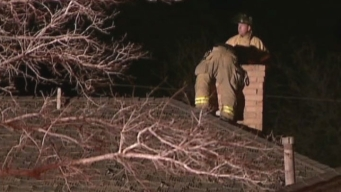 Man Rescued From His Own Chimney