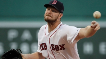 Sale Fans 13 in Two-Hitter, Red Sox Beat Angels 3-0