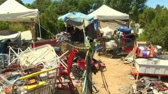Multi-Day Cleanup Begins at Sepulveda Basin Homeless Encampment