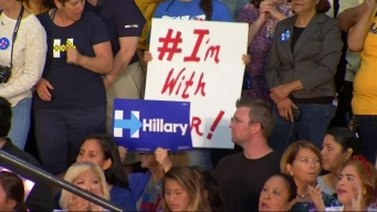 Clinton, Sanders Rally in Southern California