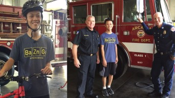 Arcadia Firefighters Buy New Bicycle for Teen Struck by Car