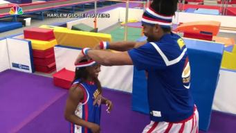 Simone Biles Learns to Dunk With the Harlem Globetrotters