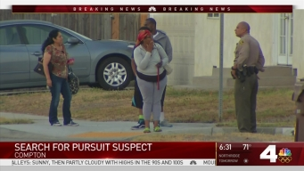 Deputies Search for Driver in Compton Pursuit
