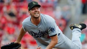 Bellinger Homers, Hill Fans 10 as Dodgers Beat Reds 6-0
