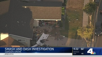 Driver Crashes Into Garage With Stolen Truck