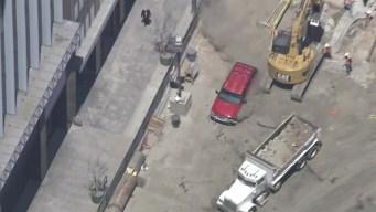 Driver Speeds Through Construction Site During Pursuit