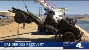 Dumped or Crashed: Cars Recovered From California Aqueduct