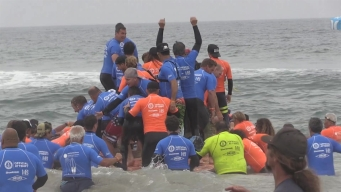 WATCH: 66 Surfers Set Big-Board World Record