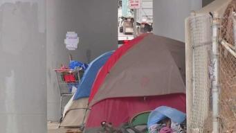 Families Worried by Growing Homeless Encampment Near School