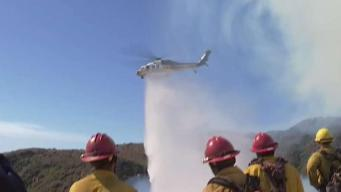 Fire Races Uphill Toward Palisades Homes