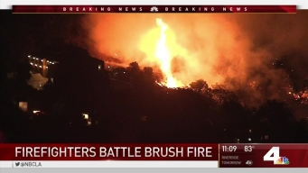 Firefighters Battle La Cañada Flintridge Brush Fire
