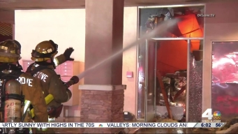 Firefighters Battle Restaurant Fire in Garden Grove