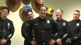 Firefighters Meet Man They Saved