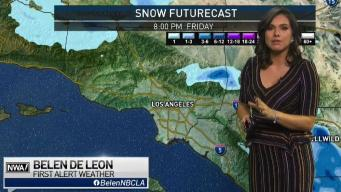 First Alert Forecast: More Snow in the Mountains