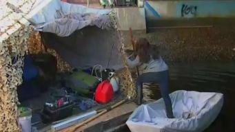 Floating Homeless Encampment Cleaned Up in Venice