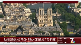 French Locals React to Potential Losses in Notre Dame Cathedral Fire