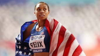 USA's Allyson Felix Breaks Usain Bolt's Gold Medal Record