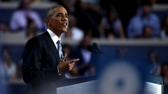 'She Never, Ever Quits,' Obama Says of Clinton