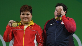 Weightlifter's Medal Celebration Warms Grandma's Heart