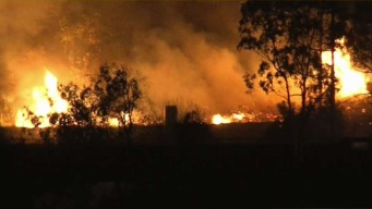 Evacuations Lifted After Brush Fire Shuts Down Freeways, Forces Hundreds From Homes