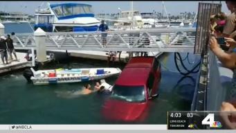 Good Samaritans Rescue Occupants as Truck Sinks in Long Beach Marina