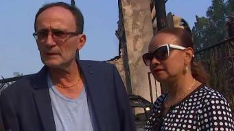 Heartbroken Family Returns to Find Home Burned Down