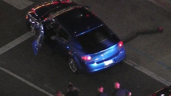 Bizarre Hollywood Boulevard Pursuit Ends With Cops Pushing Car