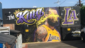 Artist Paints Over LeBron Mural After It's Vandalized Again