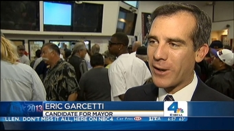 "Garcetti: ""Enthusiasm"" High Day Before Election"