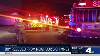 Kid Stuck in Chimney Rescued