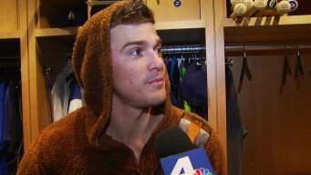 Hernandez Conducts Post-Game Interviews in Wookiee Suit