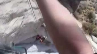 LA County Sheriff's Air Rescue Deputies Save Hiker From Palm Springs Cliff