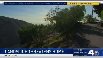 Landslide Threatens Home