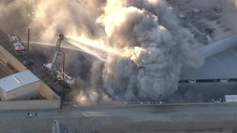 Large Fire Sends Heavy Smoke Billowing Into Anaheim Air