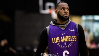 Debut Day for LeBron James with the Lakers in Portland