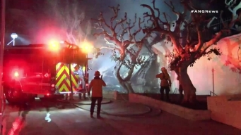 Wall Collapses at Malibu Apartment, Nearly Striking Firefighters