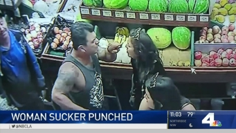 Man Sucker Punches Woman in Venice Market