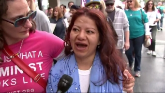 """""""Me Too"""" Marchers Take to Hollywood"""