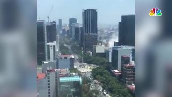 Buildings Shake, Dust Rises as Earthquake Hits Mexico City