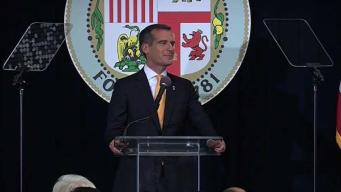 NewsConference: LA Mayor, Solving LA's Homeless Crisis