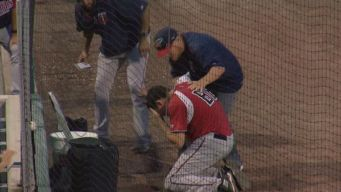 Bat Boy Hit In Face By Foul Ball